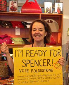 Anecdotes Design are  'Ready for Spencer'  #votefolkestone  http://www.culture24.org.uk//places-to-go/museums-at-night/ART461565-Connect10-Vote-Spencer-Tunick