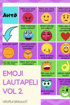 Emoji tunteet lautapeli vol - ViitottuRakkaus. Finnish Language, Website Ranking, Brain Teasers, Social Skills, Special Education, Internet Marketing, Cool Kids, Emoji, Digital Marketing
