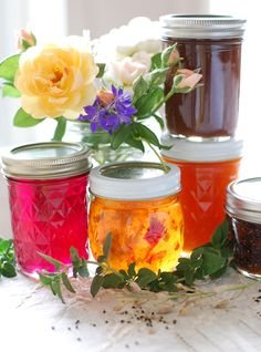 Homemade jellies and jams.  Yes, I am starting to make and sell them again.  Peterson Family Market in Linden will be selling them.
