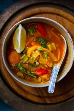 Vegetable Thukpa (Nepalese/Tibetan soup) For vegan version use coconut oil instead of clarified butter and agave or other vegan sweetener instead of honey.