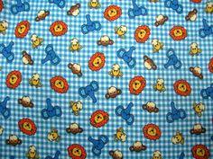 SheetWorld Fitted Portable / Mini Crib Sheet - Safari Animals Blue Check - Made In USA