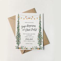 Custom Rustic Greenery Wedding Invite Suite by sweetdatesprints
