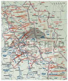 Battlefield map - Khar'kov region, 1943
