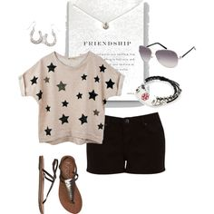 """How cute is this set, called """"Comfy,"""" by jlucke on Polyvore? We love that she used the Slate Medical ID Wrap bracelet! Adorable! Are you on Polyvore?"""