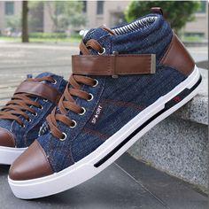 b811bbf9223 Sapatos envio gratuito de 2013 Novos Homens coreanos lona   sapatas Falt    sapatos casuais