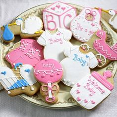 Custom Designer Baby Shower Cookies by Beau-coup