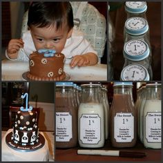 cookies and milk 1st birthday party