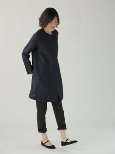 f4d567fece Nelly Coat  Navy – Shop Fog Linen