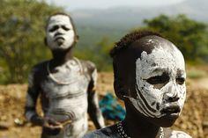 Mursi kids. South Omo valley, via Flickr.