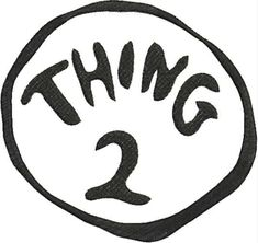 image regarding Thing 2 Logo Printable named Keisha David (keidavis08) upon Pinterest