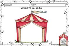 me gusta la magia actividades Looney Tunes, Carnival Crafts, Circus Theme, Playground, Special Events, Gazebo, Outdoor Structures, Activities, Holiday