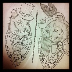 cat bow tie tattoo - Google Search