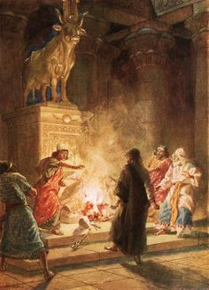 A prophet of God denounces the idolatry of Jeroboam by William Brassey Hole