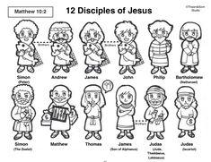 12 Disciples of Jesus Toddler Sunday School, Sunday School Crafts For Kids, Bible School Crafts, Sunday School Activities, Sunday School Lessons, Bible Activities For Kids, Bible Crafts For Kids, Bible Lessons For Kids, Preschool Lessons