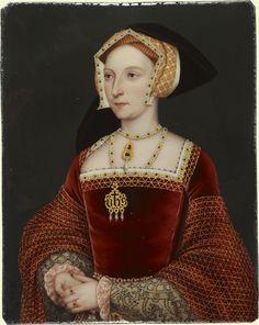 Jane Seymour (1509?-1537) ~ Henry Bone, enamel on copper, painted in 1816