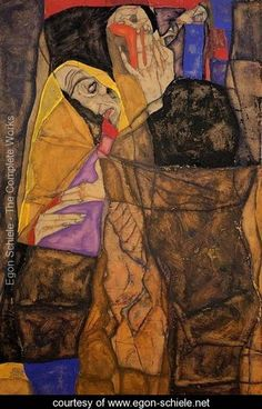 The Blind I - Egon Schiele - www.egon-schiele.netMore Pins Like This At FOSTERGINGER @ Pinterest