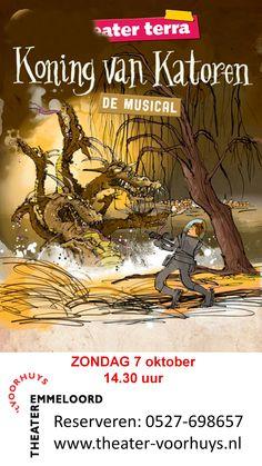 Koning van Katoren, Zondag 7 oktober, om 14:30, Theater 't Voorhuys, reserveren 0527-698657 #Emmeloord