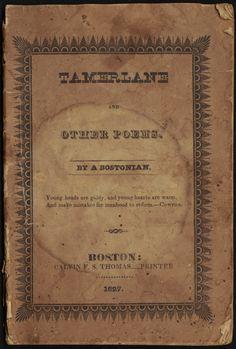 Tamerlane by A. Bostonian(Edgar Allan Poes' 1st book)