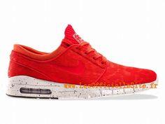 Official Nike SB Stefan Janoski Max Chaussures Pour Homme Light Crimson/Blanc