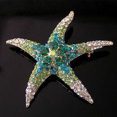 Starfish-Brooch-Pin-W-Swarovski-Crystals-P058