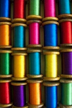 Rainbow of Thread colours ~ Ana Rosa