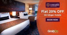 Hotel Stays Got Cheap & Cheerful! #Vistara Offers Flat 20% Off On Ginger Hotel Bookings. http://www.grabon.in/vistara-coupons/ #SaveOnGrabOn