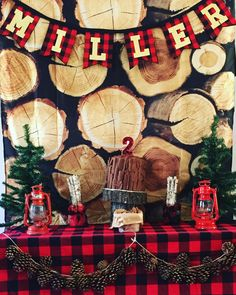 Lumberjack birthday ! #lumberjack #party #diy #plaid