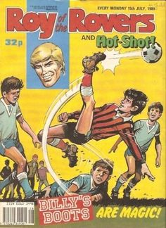 Roy of the Rovers and Hot-Shot with - 'Billy's Boots Are Magic' - Darren Davies - BritishComics.com