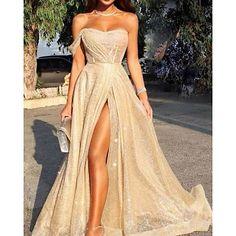 Sparkly Prom Dresses, Pretty Prom Dresses, Gala Dresses, Elegant Dresses, Cute Dresses, Beautiful Dresses, Teen Dresses, Slit Prom Dresses, Short Dresses For Prom