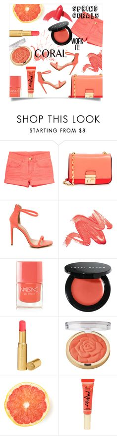 """Spring Beauty: Corals"" by gold-candle23 ❤ liked on Polyvore featuring beauty, Michael Kors, Nails Inc., Bobbi Brown Cosmetics, Too Faced Cosmetics, Milani and Elizabeth Arden"