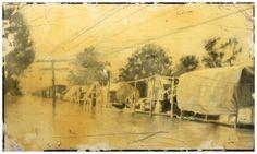 Demiak: Blanton, Mississippi, 1927.  14 x 24 cm. Oil & lacquer on MDF, 2011