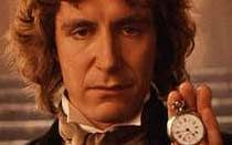 "The Eighth Doctor:  Paul McGann-1996    The TV Movie    ""Kissing. Shoes. Grace. Beryllium clock. Half human. Who am I? Eye of harmony. Nice TARDIS."""