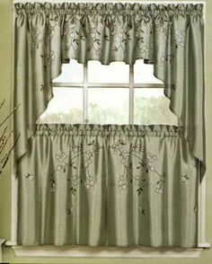 Dogwood Tier Curtains ... http://www.curtainshop.com/739000/products/Dogwood-Tier.html