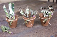 Garden Party, awesome way to hold silverware