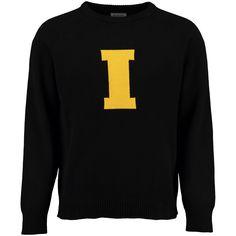 9968756b Iowa Hawkeyes Hillflint Heritage Crew Neck Sweater - Black Iowa Hawkeyes,  Black Sweaters, Men's