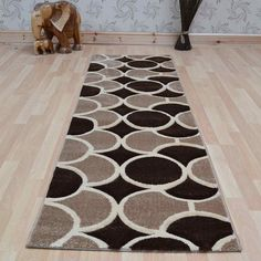 Esprit circles hallway runners in chocolate brown buy online from the rug seller uk Hallway Runner, Chocolate Brown, Circles, Runners, Hand Carved, Carving, Rugs, Stuff To Buy, Home Decor