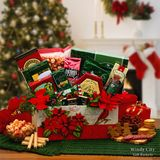 Flower and Bird Decorated Gourmet Holiday Gift Basket
