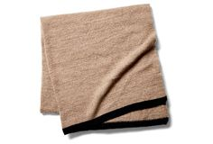 Handwoven Cashmere Throw, Natural