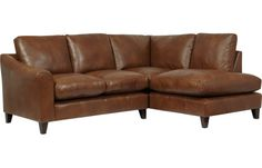 Baslow Leather Corner Group - Right Hand