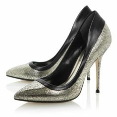 2f3053bbf23 BEBE - Metallic Pointed Toe Stiletto Court Shoe By Dune London