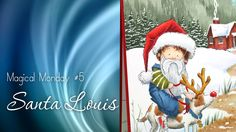 Magical Monday: Santa Louis (coloured by Sandy Allnock).  Good example of dark contrast shadows and building a background