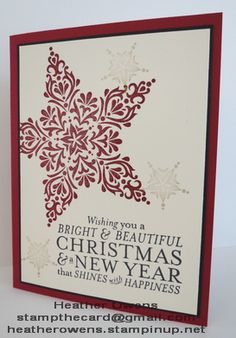 Bright and Beautiful, star framelits from Stampin' Up! : Heather's Blog