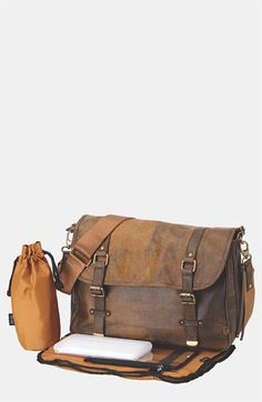 OiOi 'Jungle' Leather Diaper Bag | Nordstrom, would love a bag James and I both can use.
