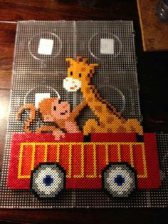X Hama Beads Design, Hama Beads Patterns, Beading Patterns, Bead Crafts, Diy And Crafts, Big Wall Art, Iron Beads, Beaded Animals, Camping Crafts