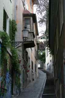 Narrow street, Zurich, Switzerland (2004)