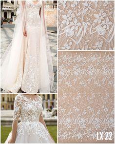 • Culoare: Ivory • Aplicatii: Cristale, Perle Sidefate si Paiete • Latime: aproximativ 140 cm Lace Wedding, Wedding Dresses, Ivory, Bridal, Floral, Model, Fashion, Bead, Bride Dresses
