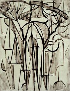 Composition trees I / 1912 - © Piet Mondrian https://www.posterlounge.co.uk/composition-trees-i-1912-pr511715.html