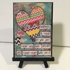 Friend gift, Friendship print, Print and Easel Set