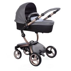 Kinderwagen mima xari rosé gold flair cool grey