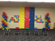 K4 Promotion Decoration ... Using LEGO patterns, construction papers, paper plates, and poster papers.
